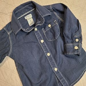 Carter's Baby Boy Button Up Long Sleeve Western 9M